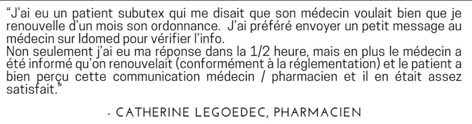 Catherine Legoedec pharmacienne