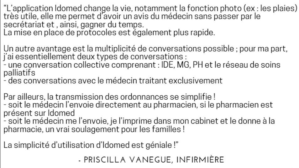 Priscilla Vanegue infirmière