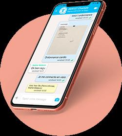 messagerie instantanée sécurisée, whatsapp de santé